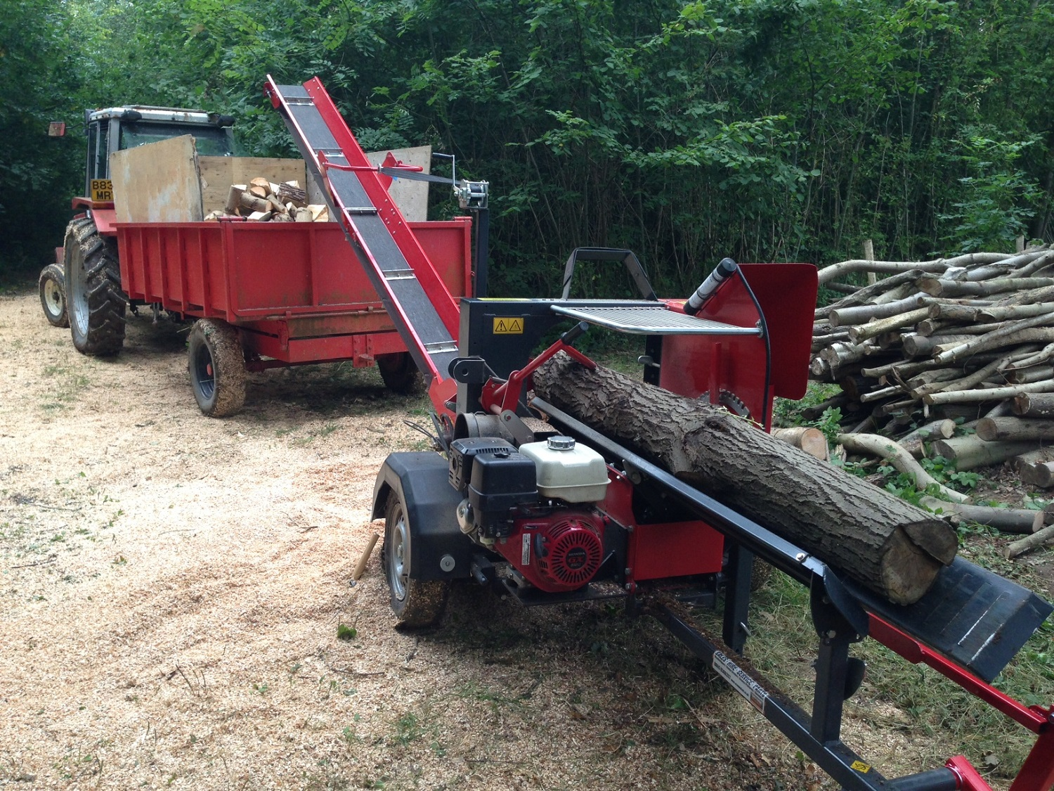 wood processing and woodchip